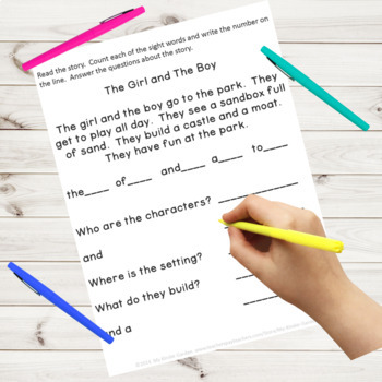 Sight Word Story Comprehension Fry High Frequency Words ...