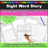 Sight Word Reading Comprehension Worksheets l Fry List 2 i