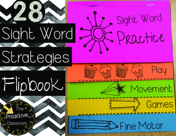 Sight Word Strategies Flipbook--Great for Conferences or O