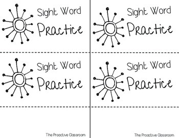 Sight Word Strategies Flipbook--Great for Conferences or Open House!
