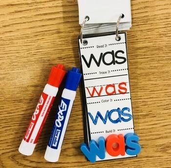 Sight Word Strips: Read it, Trace it, Color it, Build it!