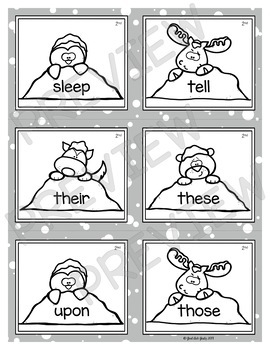 Sight Word Stuck in the Snow Game
