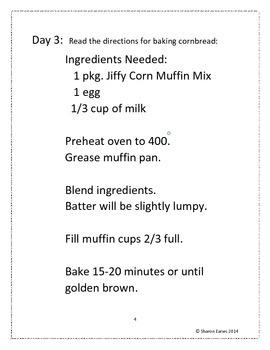 Sight Word Study Baking Cornbread Muffins