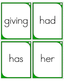 Sight Word  Study Cards