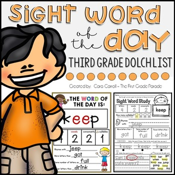 Word of the Day - THIRD GRADE