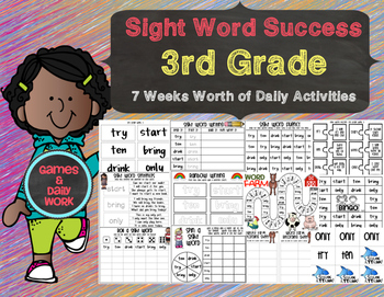 Sight Word Success 3rd Grade Edition