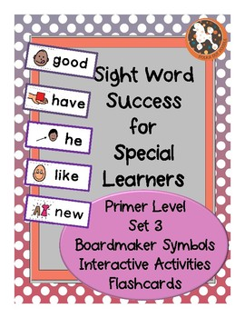 Sight Word Success PRIMER Set 3 (Dolch)