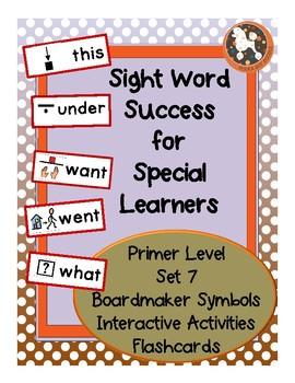 Sight Word Success PRIMER Set 7 (Dolch)
