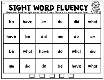 Sight Word Success: Fluency Practice Sheets (With Editable Version!)