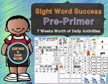 Sight Word Success Pre Primer Edition