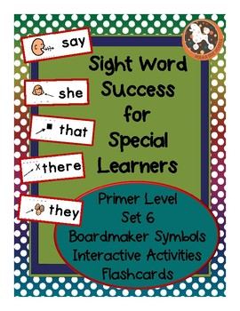 Sight Word Success PRIMER Set 6 (Dolch)