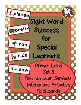 Sight Word Success PRIMER Set 5 (Dolch)