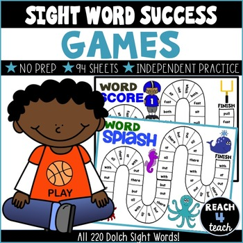 Sight Word Success: Sight Word Games *Includes Editable Version*