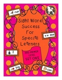 Sight Word Success PRE-PRIMER Set 1 (Dolch)