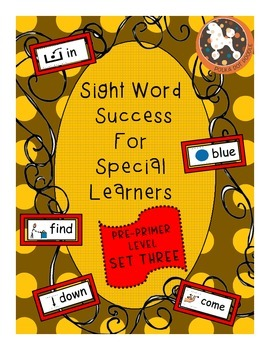 Sight Word Success PRE-PRIMER Set 3 (Dolch)