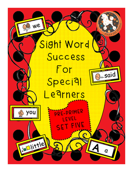 Sight Word Success PRE-PRIMER Set 5 (Dolch)