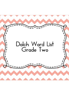 Sight Word Sudoku (Dolch Word List - Grade 2)