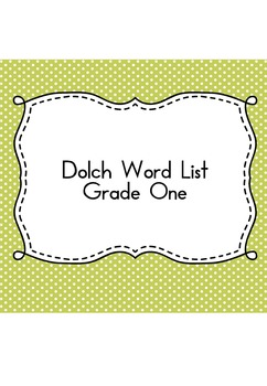 Sight Word Sudoku (Dolch Word List - Grade One)