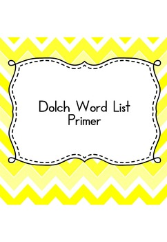 Sight Word Sudoku (Dolch Word List - Primer)