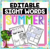Sight Word Summer Editable Printable