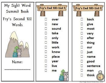 Sight Word Summit & Sight Word Sticker Books