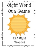 Sight Word Sun Center Game - 220 Words!