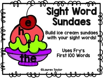Sight Word Sundae
