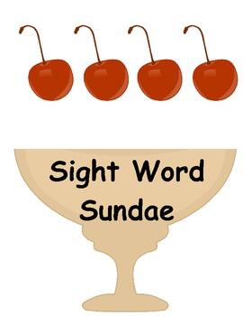 Sight Word Sundae Game