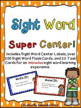 Sight Word Super Center