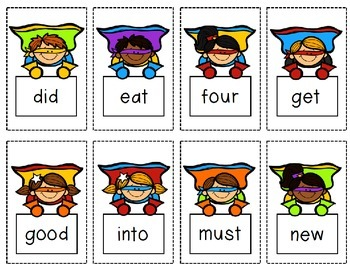 Sight Word Super Hero Game