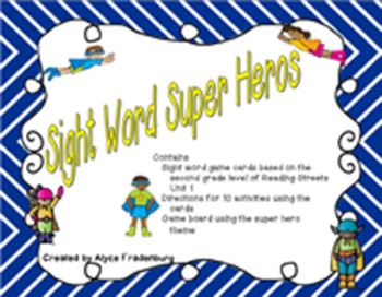 Sight Word Super Heroes Pearson Reading Streets Grade 2 Unit 1