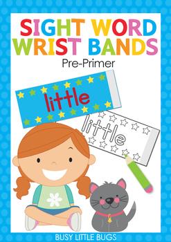 Sight Word Super Power Wrist Bands Pre-Primer