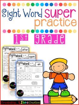Sight Word Super Practice 1st Grade