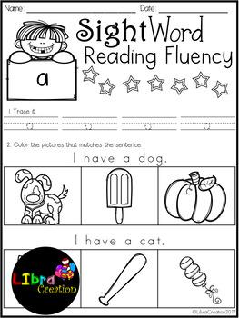Sight Word Reading Fluency Free