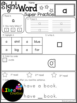 Sight Word Super Practice Freebies