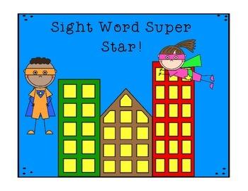 Sight Word Super Stars