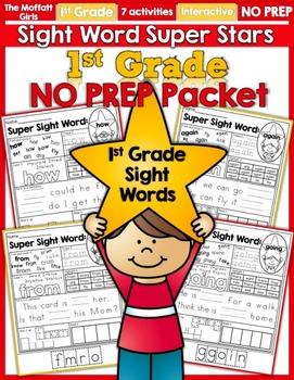 Sight Word Super Stars NO PREP (1st Grade Edition)