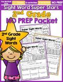 Sight Word Super Stars NO PREP (2nd Grade Edition)