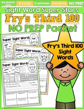 Sight Word Super Stars NO PREP (Fry's Third 100 Words)