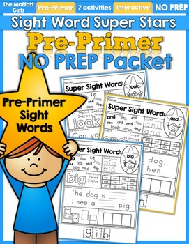 Sight Word Super Stars NO PREP (Pre-Primer Edition)