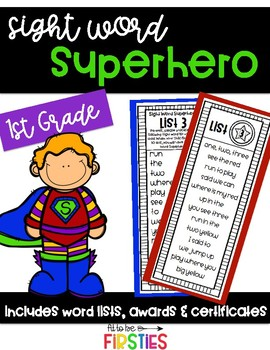 Sight Word Superhero 1st Grade