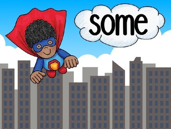 Sight Word Superhero Fourth Set PowerPoint
