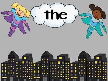 Sight Word Superhero PowerPoint