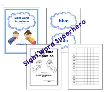 Sight Word Superhero Preprimer