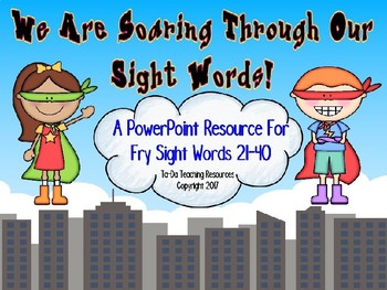 Sight Word Superhero Second Set Powerpoint