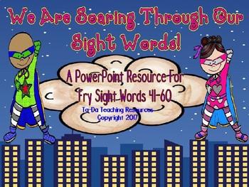 Sight Word Superhero Third Set PowerPoint