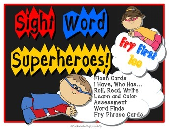 Sight Word Superheroes! Fry First 100 Words