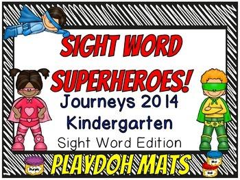 Sight Word Superheroes Journeys 2014 Kindergarten Edition Playdoh Mats