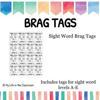 Sight Word Superstar BRAG TAGS {Freebie!!}