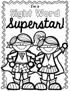 Sight Word Superstar Pack!